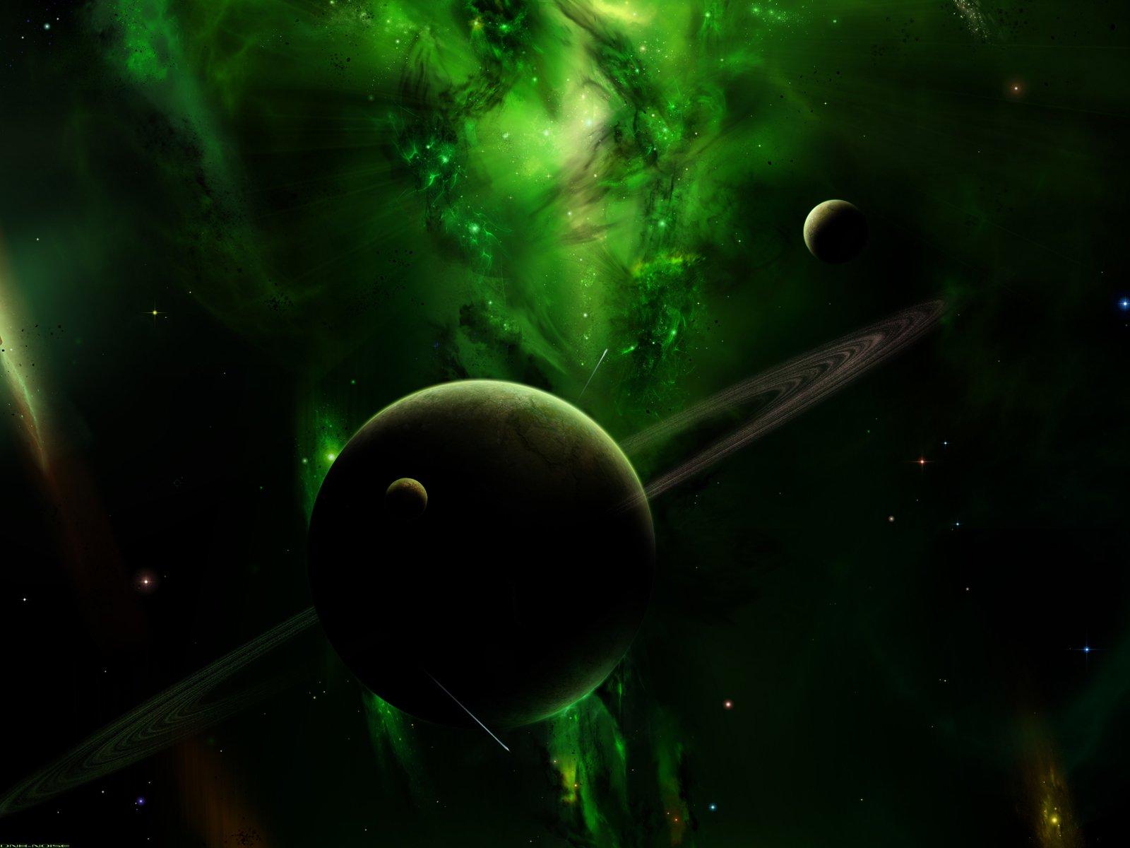 Science-Fiction - Planetenring  Wallpaper