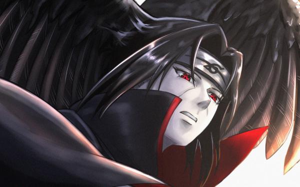 Anime Naruto Itachi Uchiha Wings Sharingan Fondo de pantalla HD   Fondo de Escritorio