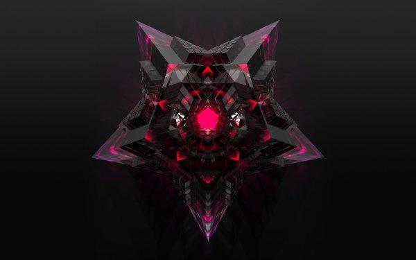 Artistic 3D Art Star 3D Pink HD Wallpaper | Background Image