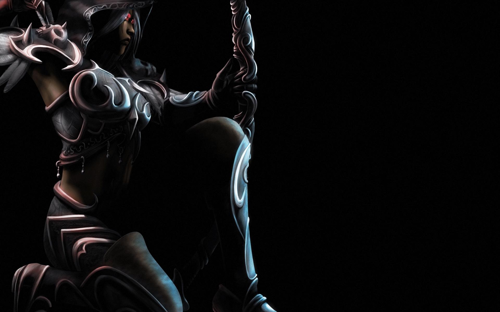 Warrior in the dark hd wallpaper background image 1920x1200 id 107015 wallpaper abyss - Sylvanas windrunner wallpaper ...