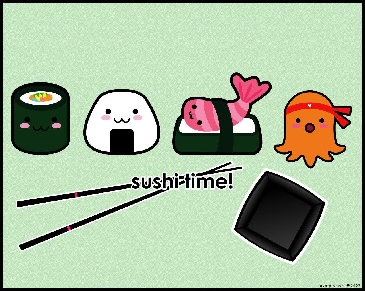 Alimento - Sushi  Chopsticks Sfondo