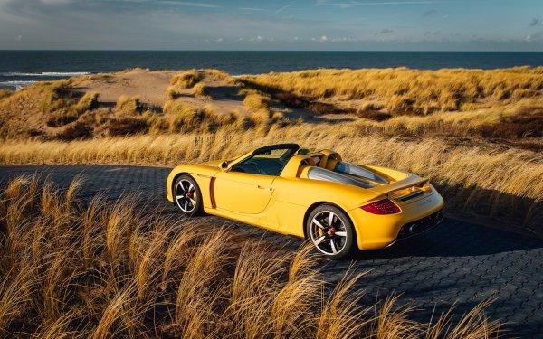 Vehicles Porsche Carrera GT Porsche Car Yellow Car Sport Car HD Wallpaper | Background Image