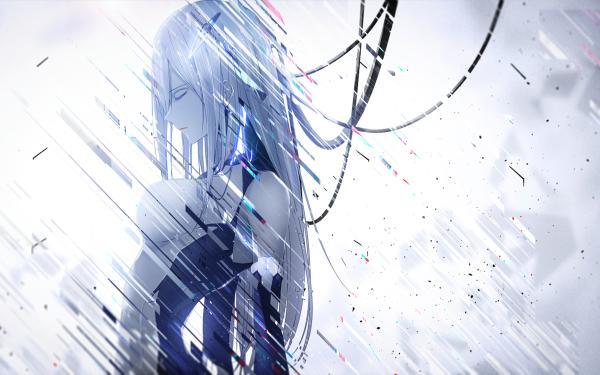 Anime Qualidea Code White Hair Long Hair Fondo de pantalla HD   Fondo de Escritorio