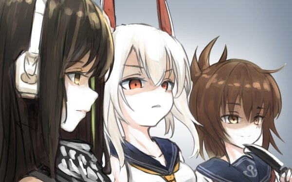 Video Game Crossover Inazuma Ayanami M4A1 Girls Frontline Azur Lane Kantai Collection HD Wallpaper | Background Image