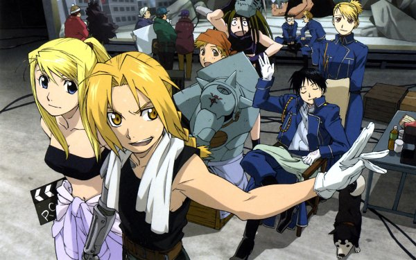 Anime FullMetal Alchemist Fullmetal Alchemist Edward Elric Winry Rockbell Roy Mustang Alphonse Elric Riza Hawkeye HD Wallpaper   Background Image