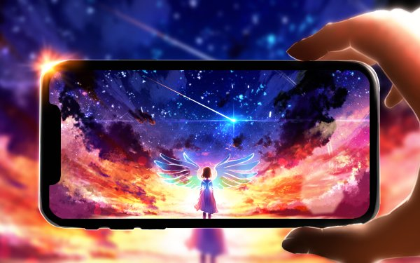 Anime Original Smartphone iPhone Wings HD Wallpaper | Background Image