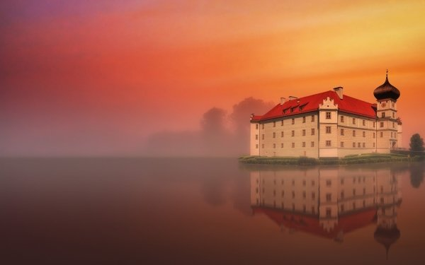 Man Made Building Buildings Mansion Reflection Lake HD Wallpaper | Background Image