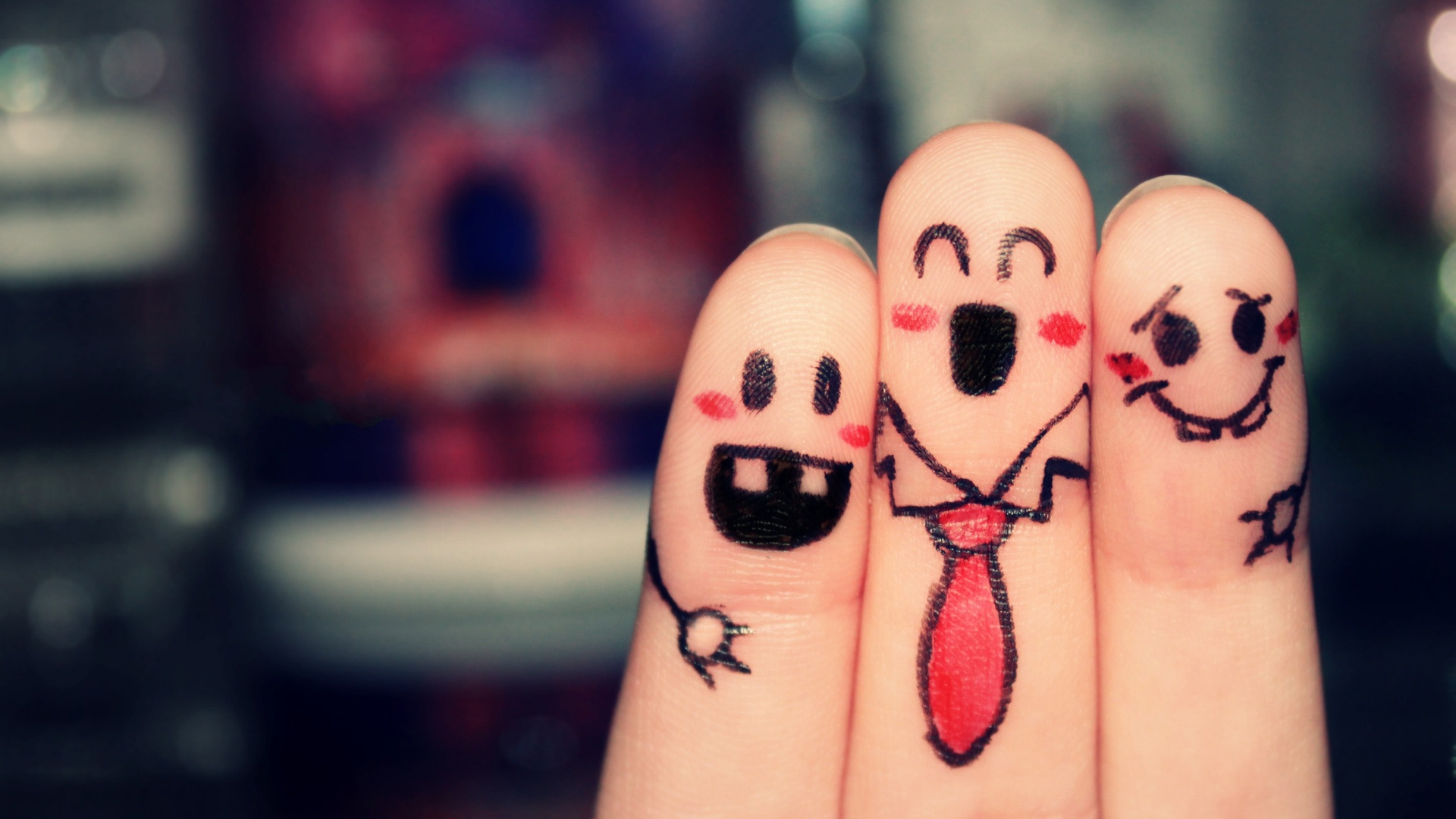 Photography - Cool  - Happy Fingers Wallpaper