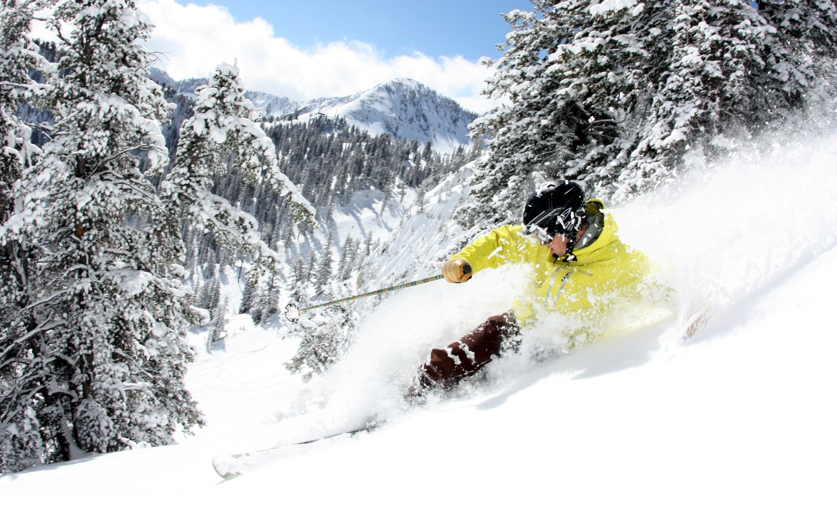 Skiing wallpaper and background image 1680x1050 id - Ski wallpaper ...