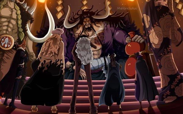 Anime One Piece Kaido Jack Page One Ulti X Drake Black Maria Sasaki Who's Who HD Wallpaper | Background Image