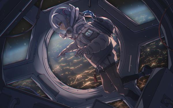 Anime Vocaloid Hatsune Miku Astronauta Fondo de pantalla HD   Fondo de Escritorio