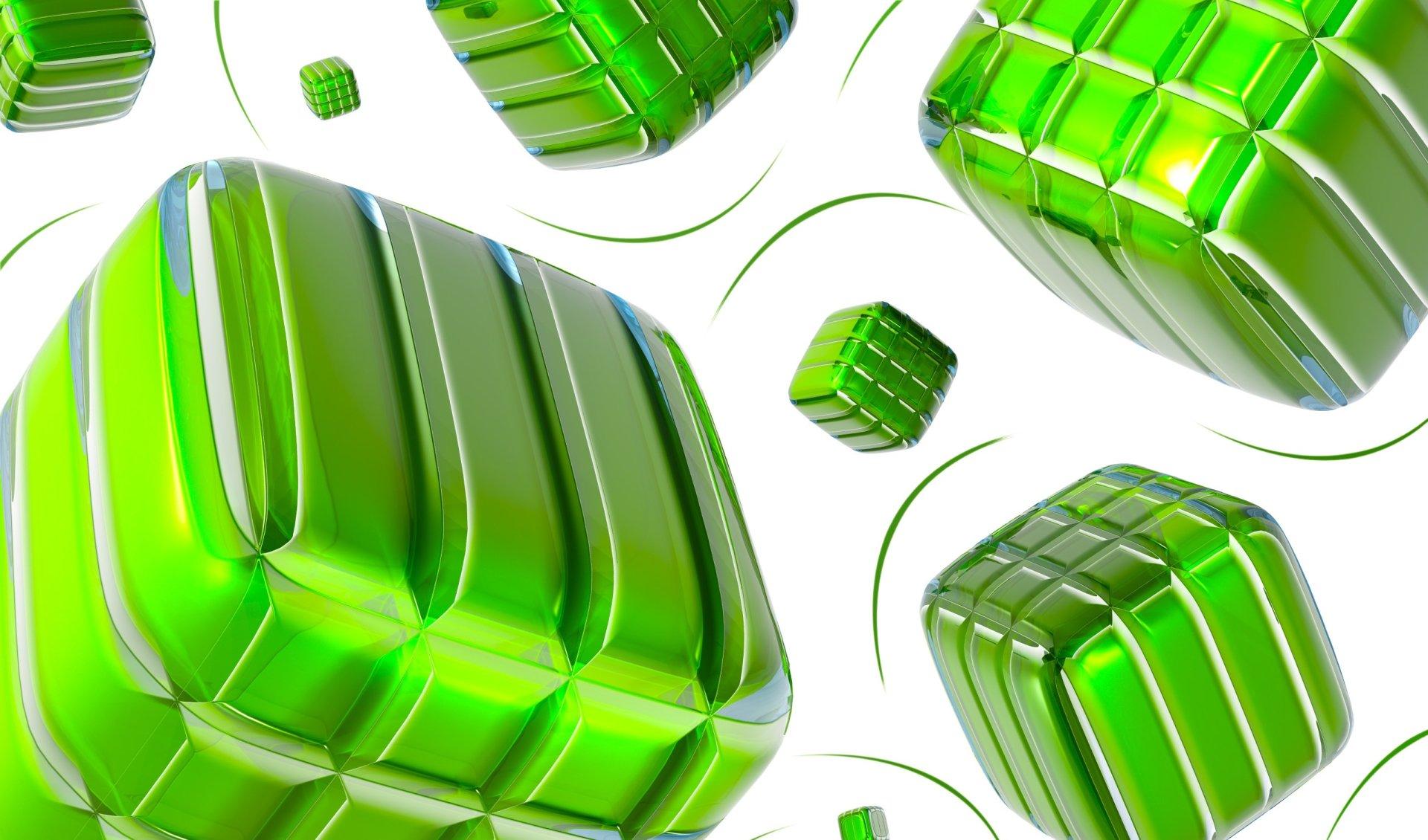 Abstract - Digital Art  Digital Abstract Artistic Green 3D Wallpaper