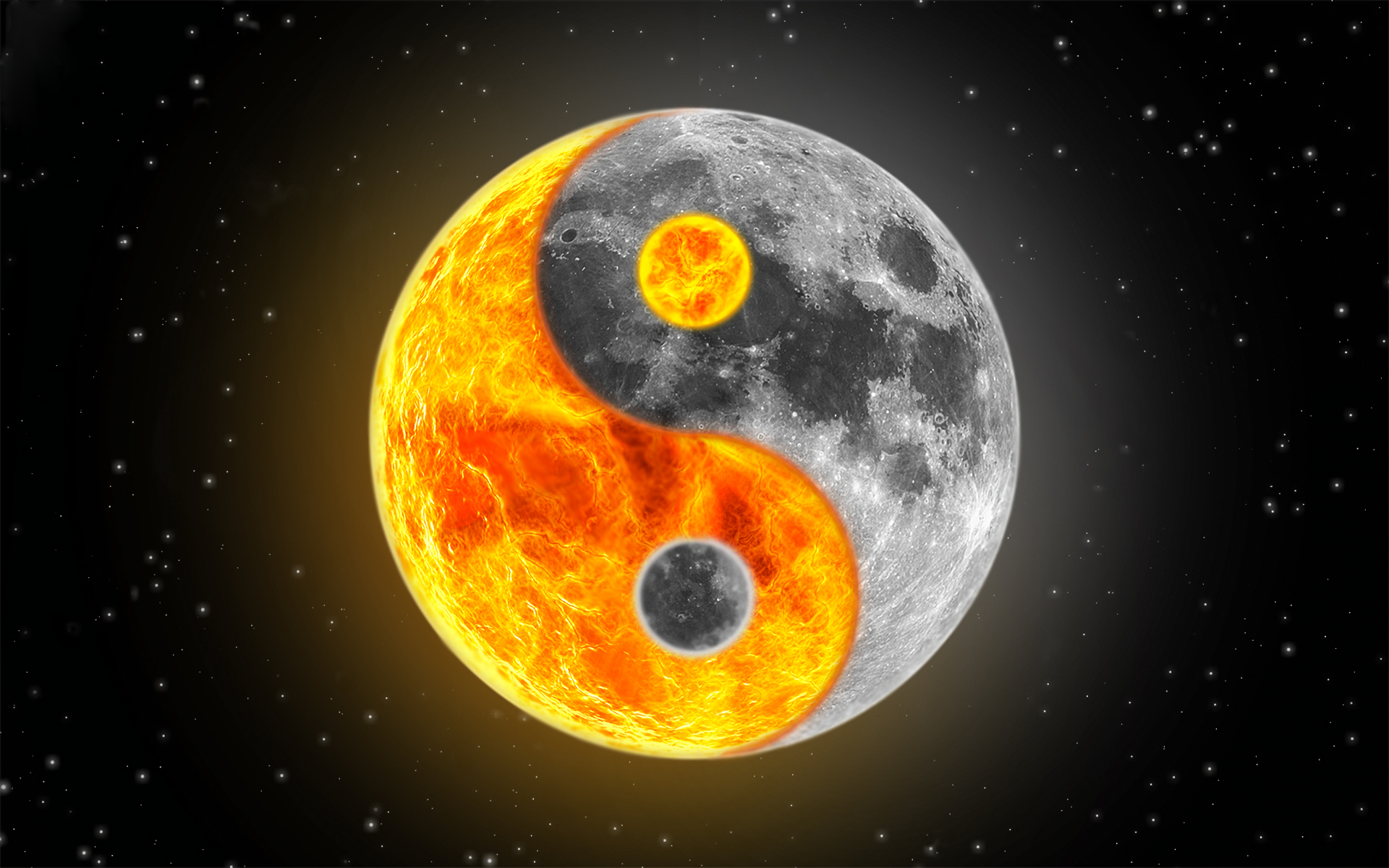 Religious - Yin & Yang  Wallpaper