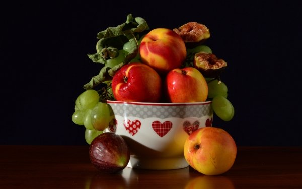 Food Fruit Fruits Nectarine Grapes Fig HD Wallpaper   Background Image