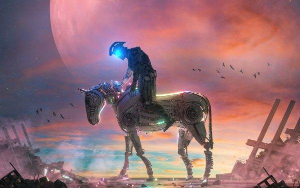 Sci Fi Cyborg Horse HD Wallpaper | Background Image