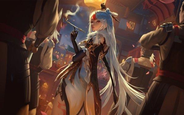 Videospel Genshin Impact Ningguang HD Wallpaper | Achtergrond