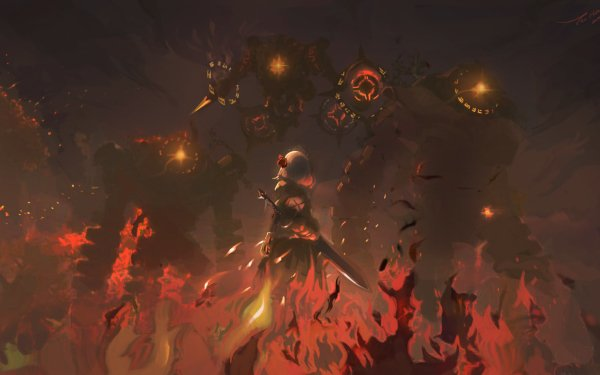 Videospel Genshin Impact Vuur Noelle HD Wallpaper | Achtergrond