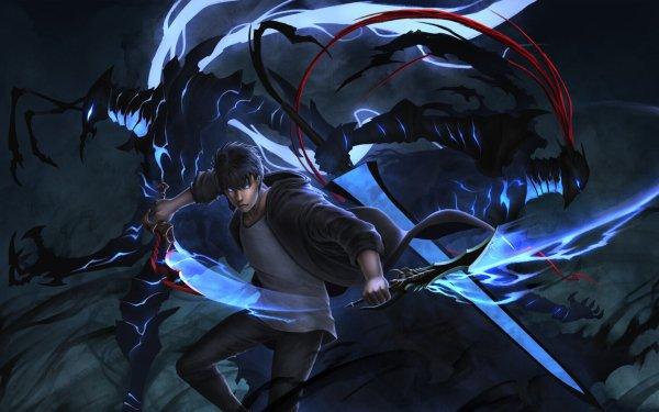 Anime Solo Leveling Sung Jin-Woo Igris Beru HD Wallpaper | Background Image