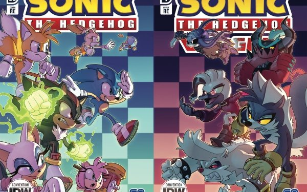 """Comics Sonic the Hedgehog (IDW) Sonic the Hedgehog Miles """"Tails"""" Prower Rouge the Bat Dr Starline Zavok Cream the Rabbit Amy Rose Cheese the Chao Shadow the Hedgehog Piko Piko Hammer Tumble the Skunk Rough the Skunk HD Wallpaper 