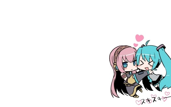 Anime Vocaloid Chibi Luka Megurine Hachune Miku HD Wallpaper | Background Image