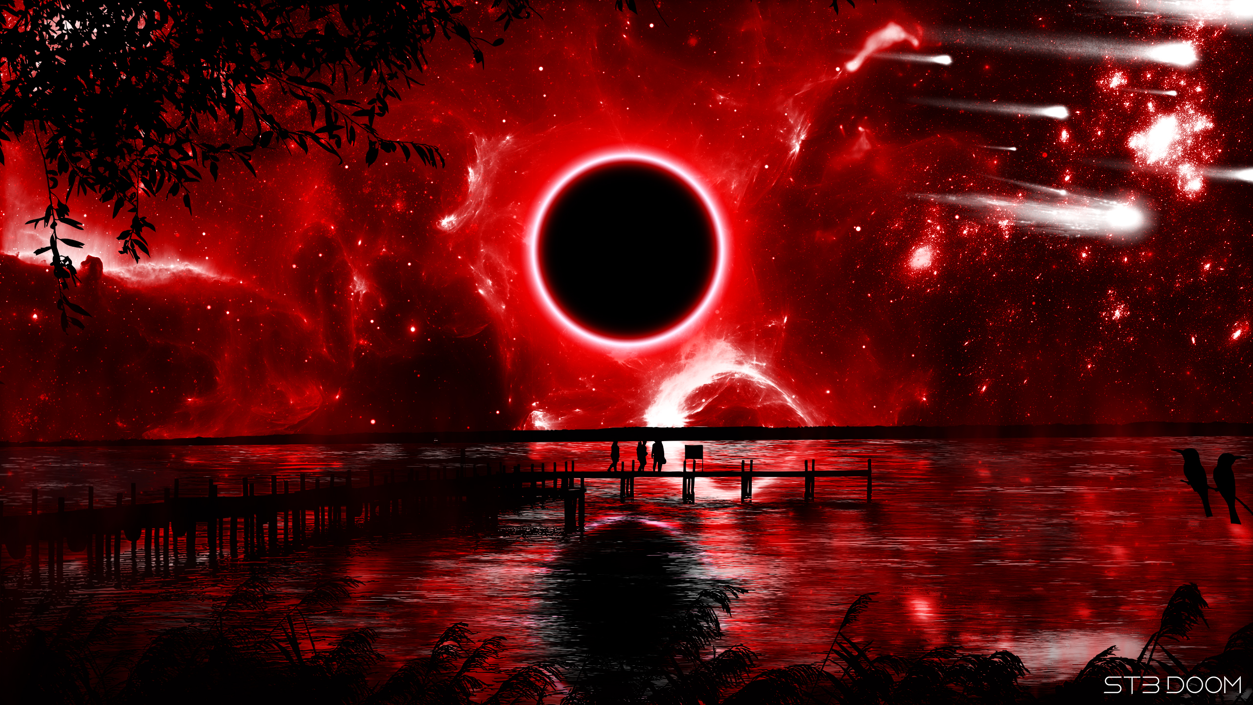 Red Eclipse Hd Wallpaper Background Image 2560x1440 Id 1112101 Wallpaper Abyss