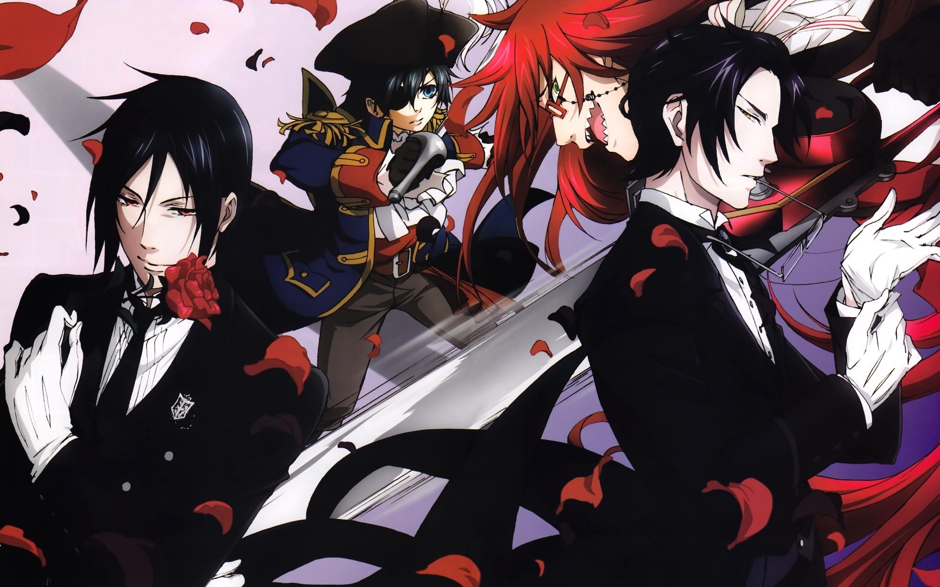 Black butler full hd wallpaper and background image - Anime wallpaper black background ...
