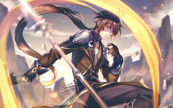 Video Game Genshin Impact Zhongli HD Wallpaper | Background Image