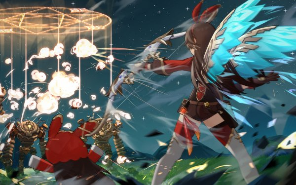 Video Game Genshin Impact Amber HD Wallpaper   Background Image