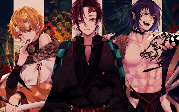 Anime Demon Slayer: Kimetsu no Yaiba Tanjiro Kamado Inosuke Hashibira Zenitsu Agatsuma HD Wallpaper | Background Image