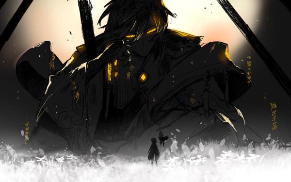 Videospel Genshin Impact Lumine Paimon Zhongli HD Wallpaper | Achtergrond