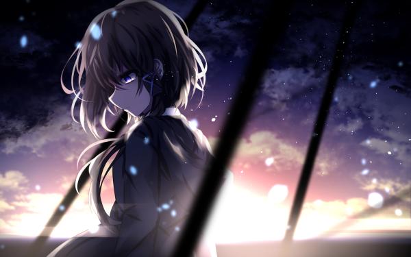 Anime Girl Brown Hair Short Hair HD Wallpaper   Background Image