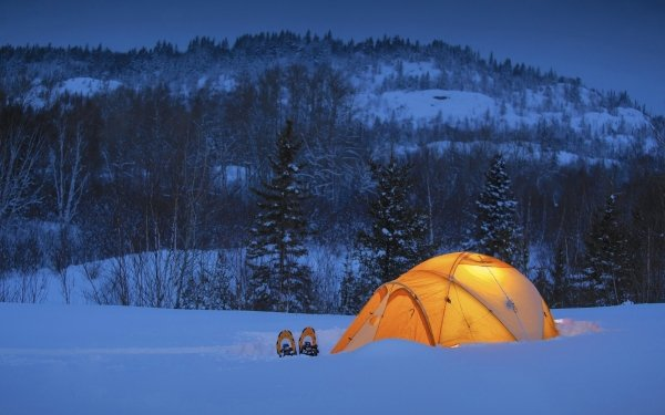 Photography Camping Tent Mountain Winter HD Wallpaper | Background Image