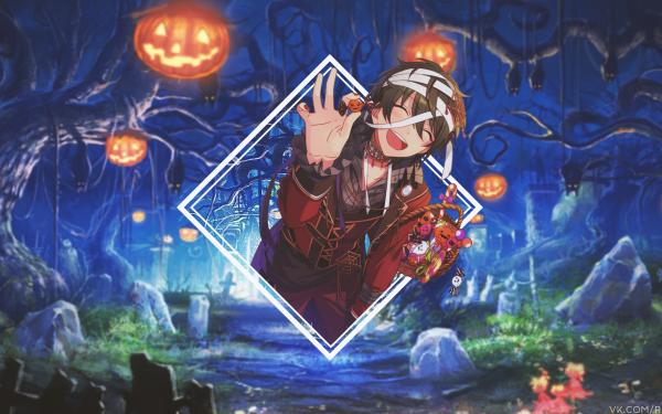 Anime Ensemble Stars Halloween Mika Kagehira HD Wallpaper | Background Image