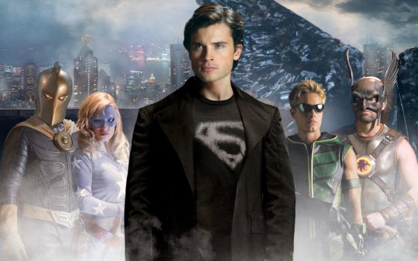TV Show Smallville Superman Hawkman Clark Kent Oliver Queen Stargirl Doctor Fate Green Arrow Carter Hall Tom Welling Courtney Whitmore HD Wallpaper | Background Image