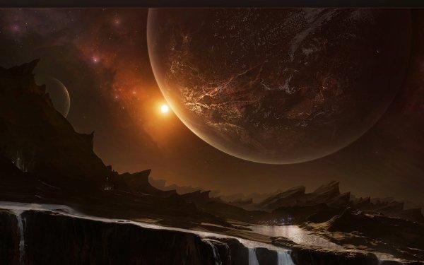 Sci Fi Landscape Planet Space Terrain Desert HD Wallpaper   Background Image
