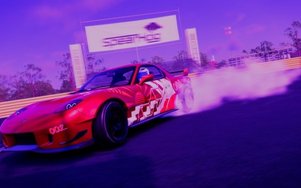 Video Game The Crew 2 Drifting Anime Darling in the FranXX Mazda RX-7 HD Wallpaper | Background Image