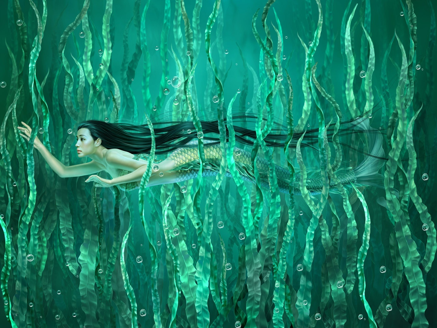 mermaid computer wallpapers desktop backgrounds