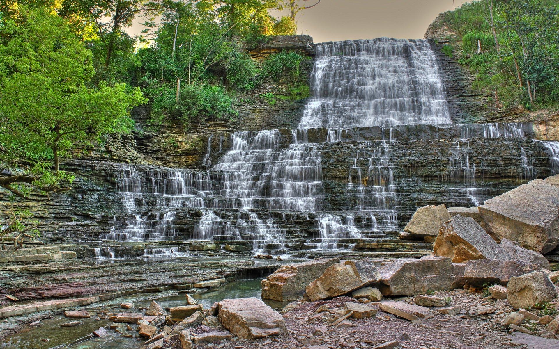 Earth - Albion Falls  Wallpaper