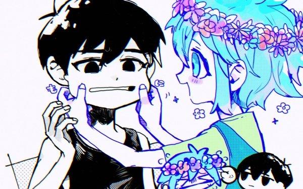 Video Game OMORI Omori Basil Boy Blue Hair Black Hair HD Wallpaper | Background Image