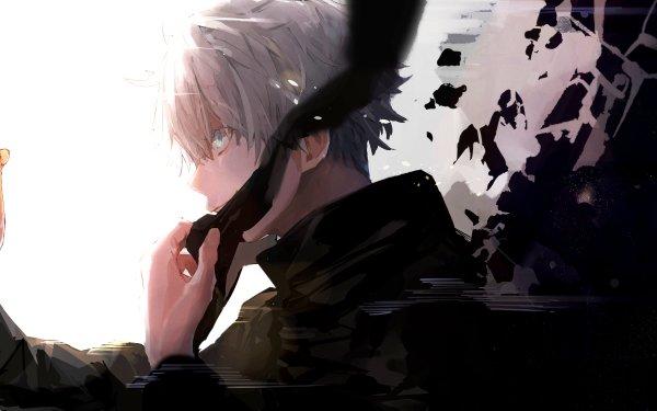 Anime Jujutsu Kaisen Satoru Gojo White Hair Blue Eyes HD Wallpaper | Background Image