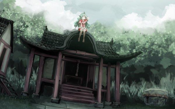 Anime Touhou Aunn Komano HD Wallpaper   Background Image