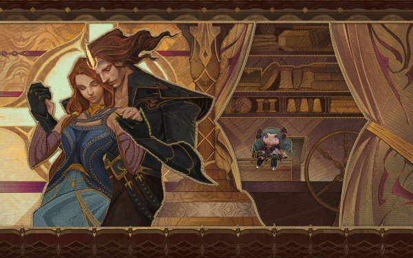 Video Game League Of Legends Gwen Couple Love HD Wallpaper | Background Image