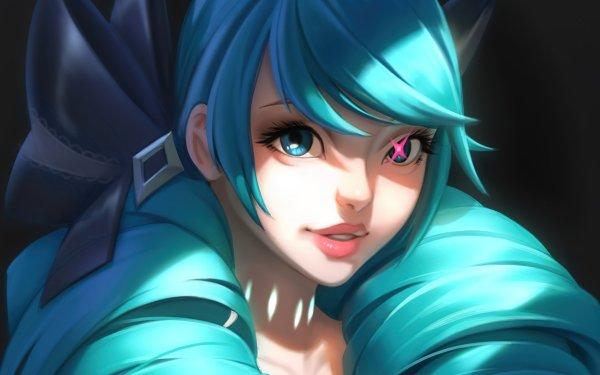 Video Game League Of Legends Gwen Girl Blue Hair HD Wallpaper | Background Image