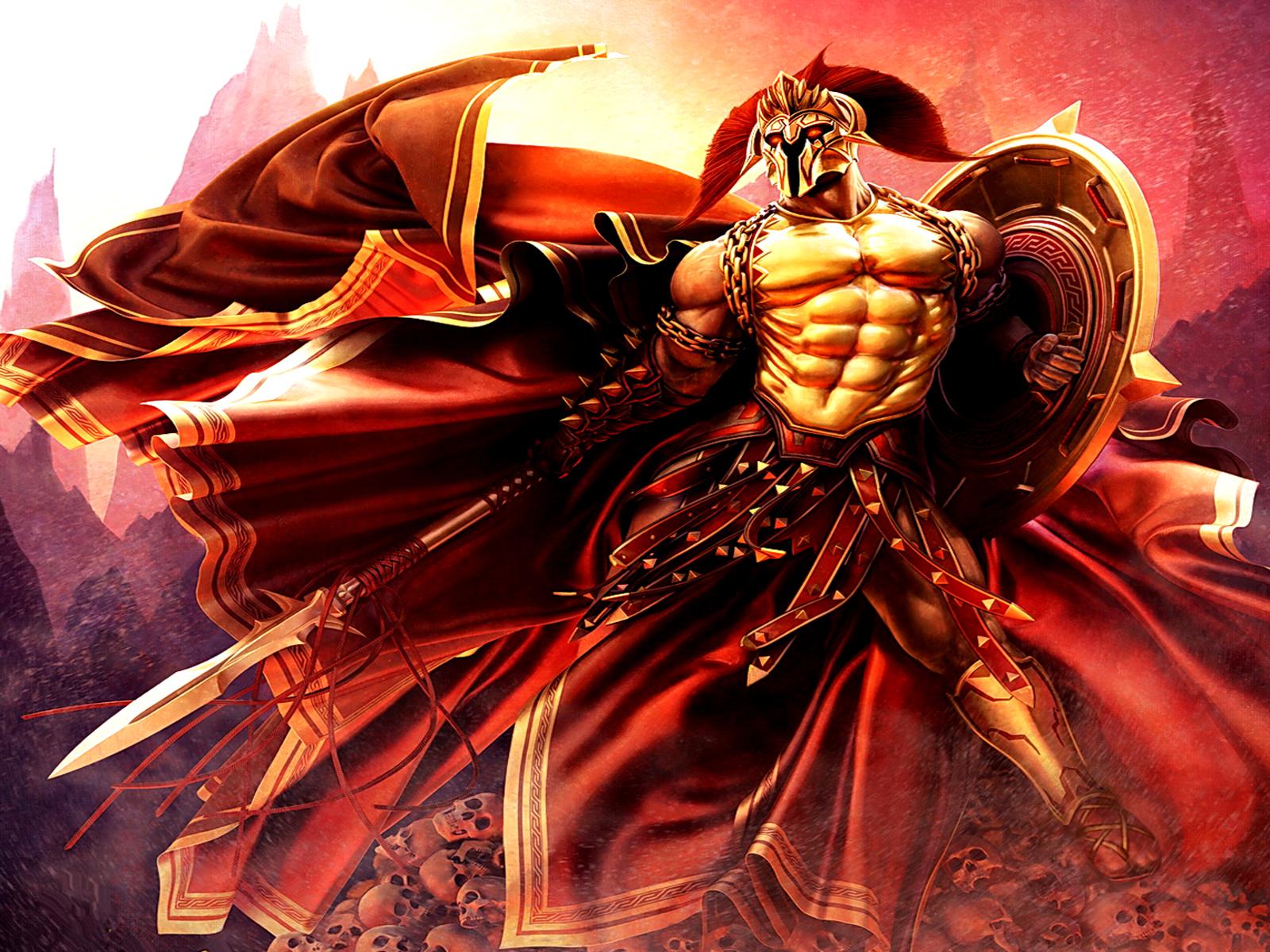 Fantaisie - Dieux  - Zeus - Ares Fond d'écran
