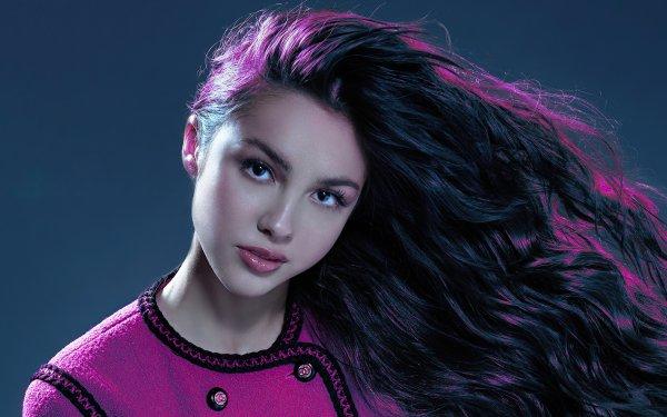 Kändis Olivia Rodrigo Actress American Singer Black Hair Long Hair HD Wallpaper | Background Image