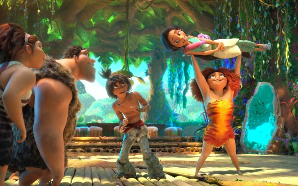Movie The Croods: A New Age Eep Guy Grug Ugga Dawn Betterman HD Wallpaper | Background Image