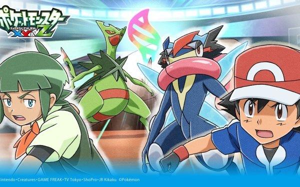 Anime Pokémon Ash Ketchum Greninja Mega Sceptile HD Wallpaper   Background Image