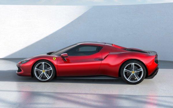 Vehicles Ferrari 296 GTB Ferrari Car Red Car Sport Car Electric Car HD Wallpaper | Background Image