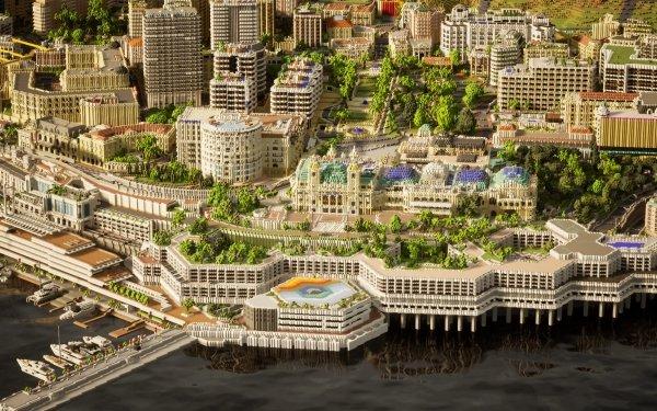 Video Game Minecraft Monaco City HD Wallpaper | Background Image