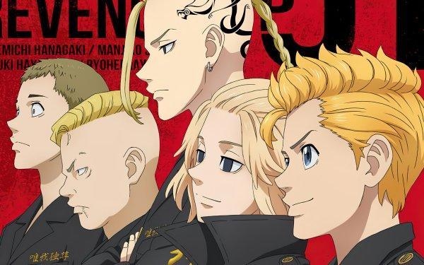 Anime Tokyo Revengers Mikey Manjiro Sano Ken Ryuguji Chifuyu Matsuno HD Wallpaper | Background Image